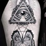 тату глаз в треугольнике - фото пример классной татуировки от 14072016 1