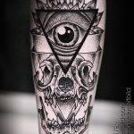 тату глаз в треугольнике - фото пример классной татуировки от 14072016 2
