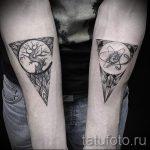 тату дерево в треугольнике - фото пример классной татуировки от 14072016 2