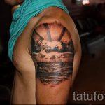 тату закат солнца - фото классной готовой татуировки от 14072016 1