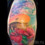тату закат солнца - фото классной готовой татуировки от 14072016 10