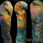 тату закат солнца - фото классной готовой татуировки от 14072016 14