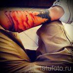 тату закат солнца - фото классной готовой татуировки от 14072016 15