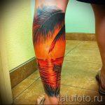 тату закат солнца - фото классной готовой татуировки от 14072016 16