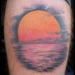 тату закат солнца - фото классной готовой татуировки от 14072016 17