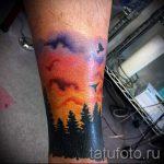 тату закат солнца - фото классной готовой татуировки от 14072016 18
