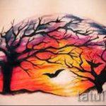 тату закат солнца - фото классной готовой татуировки от 14072016 21