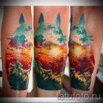 тату закат солнца - фото классной готовой татуировки от 14072016 22