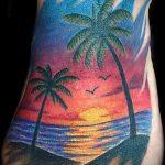 тату закат солнца - фото классной готовой татуировки от 14072016 3