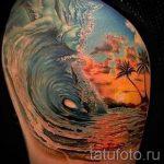 тату закат солнца - фото классной готовой татуировки от 14072016 5
