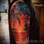 тату закат солнца - фото классной готовой татуировки от 14072016 6