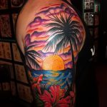 тату закат солнца - фото классной готовой татуировки от 14072016 7