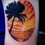 тату закат солнца - фото классной готовой татуировки от 14072016 8