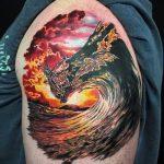 тату закат солнца - фото классной готовой татуировки от 14072016 9