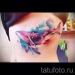 тату кит акварель - фото вариант готовой татуировки от 14072016 2