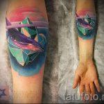 тату кит классная работа - фото вариант готовой татуировки от 14072016 1