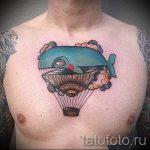 тату кит классная работа - фото вариант готовой татуировки от 14072016 14