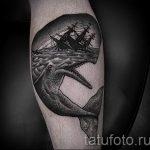 тату кит классная работа - фото вариант готовой татуировки от 14072016 37