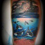 тату кит классная работа - фото вариант готовой татуировки от 14072016 43