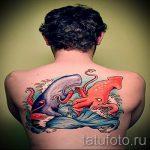тату кит классная работа - фото вариант готовой татуировки от 14072016 51