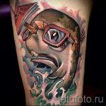 тату кит классная работа - фото вариант готовой татуировки от 14072016 53