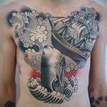 тату кит классная работа - фото вариант готовой татуировки от 14072016 77
