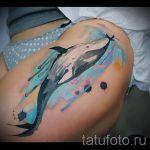 тату кит классная работа - фото вариант готовой татуировки от 14072016 94