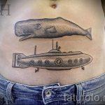 тату кит классная работа - фото вариант готовой татуировки от 14072016 98