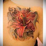 тату лилии на спине - фото пример татуировки от 13072016 2