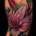 тату лилия акварель - фото пример татуировки от 13072016 2
