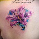 тату лилия акварель - фото пример татуировки от 13072016 3