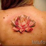 тату лилия водяная - фото пример татуировки от 13072016 1