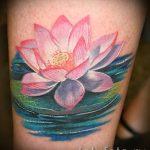 тату лилия водяная - фото пример татуировки от 13072016 3