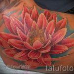 тату лилия водяная - фото пример татуировки от 13072016 5
