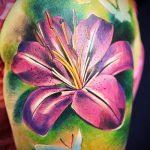 тату лилия королевская - фото пример татуировки от 13072016 1