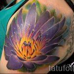 тату лилия на плече - фото пример татуировки от 13072016 2
