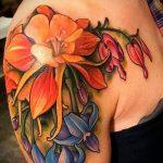 тату лилия на плече - фото пример татуировки от 13072016 3