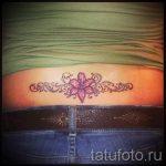 тату лилия на пояснице - фото пример татуировки от 13072016 4