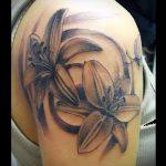 тату лилия на руке - фото пример татуировки от 13072016 2