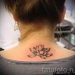 тату лилия на шее - фото пример татуировки от 13072016 33