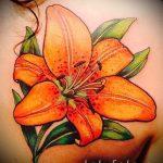 тату лилия тигровая - фото пример татуировки от 13072016 1