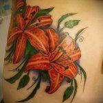 тату лилия тигровая - фото пример татуировки от 13072016 2