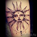 тату лучи солнца - фото классной готовой татуировки от 14072016 1