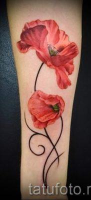 тату мак на запястье – фото для статьи про значение татуировки 1