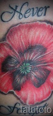 тату мак на запястье – фото для статьи про значение татуировки 3