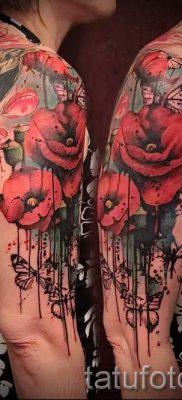 тату мак на руке – фото для статьи про значение татуировки 3