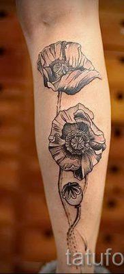 тату мак на руке – фото для статьи про значение татуировки 5
