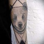 тату медведь в треугольнике - фото пример классной татуировки от 14072016 1