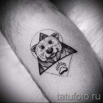 тату медведь в треугольнике - фото пример классной татуировки от 14072016 3