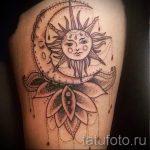 тату месяц и солнце - фото классной готовой татуировки от 14072016 2